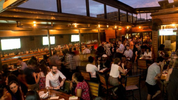 "Jack Rose Dining Saloon will host ""courtside happy hours"" on its covered rooftop terrace whenever there is an NCAA playoff game. (Photo: Jack Rose Dining Saloon)"