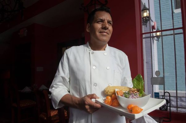 Co-owner and chef Eddy Ancasi at Las Canteras, which closed Sunday in Adams Morgan. (Photo: Las Canteras/Facebook)