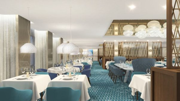 The Cyprus dining room is one of four main dining rooms on the Celebrity Edge cruise ship. (Photo: Celebrity Cruises)