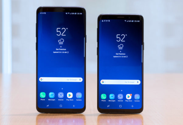 The Samsung Galaxy S9 Plus (left) and the Galaxy S9. (Photo: SquareTrade)