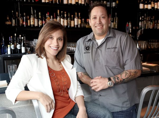Publicist Jennifer Resick Williams of Know PR with chef Mike Isabella. (Photo: Greg Powers/Know PR)
