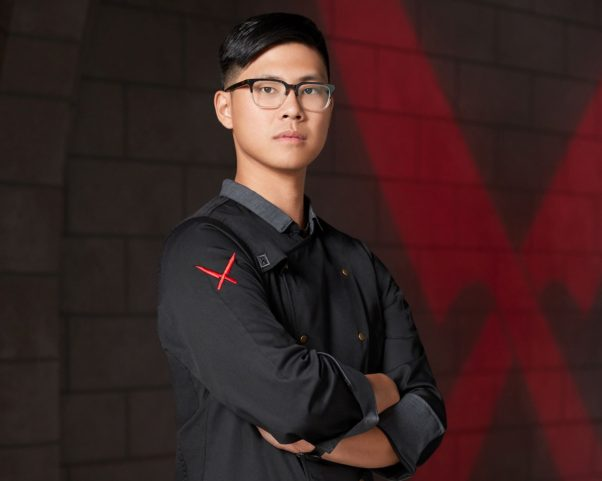 Kevin Tien, chef and co-owner of Himitsu in Petworth, is a finalist for the James Beard Foundation's Rising Star Chef of the Year award and a contestant on Season 2 of Food Network's <em>Iron Chef Gauntlet</em>. (Photo: Food Network)