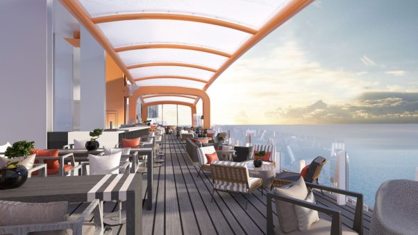 The Magic Carpet restaurant offers dining with views on the Celebrity Edge cruise ship. (Photo: Celebrity Cruises)