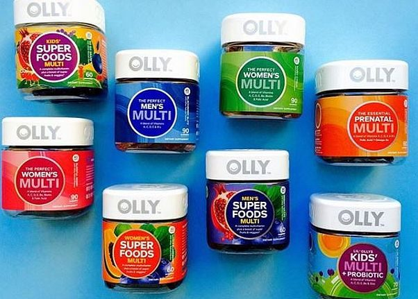 Bottles of various kinds of Olly vitamin and supplement gummies. (Photo: Olly Nutrition/Instagram)
