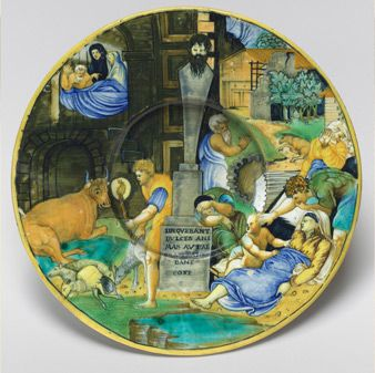 A plate with a reproduction of Rapehaels' <em>Plague of Phygia</em> by an unknown artists. (Photo: National Gallery of Art)