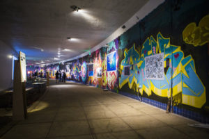 Artwork by Irish artists is featured at an exhibit in the Dupont Underground. (Photo: Solas Nau)