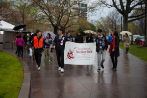 The Cherry Blossom Freedom Walk begins at 9:30 a.m. on Saturday. (Photo: National Japanese American Memorial Foundation)