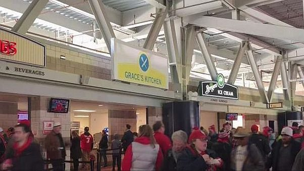Grace's Kitchen, which will offer a rotating menu from local female chefs and restaurateurs, replaced Isabella's G Sandwich stand at Nats Park. (Photo: NBC Washington)