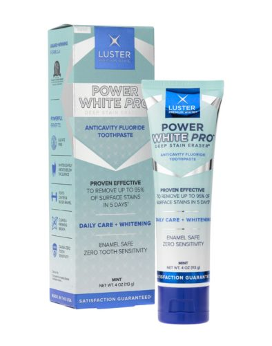 Luster Premium White  Power White Pro toothpaste will remove your coffee and wine stains with about a week of daily use. (Photo: Luster Premium White)