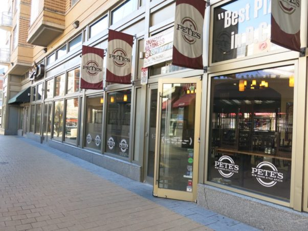 Pete's Apizza in Columbia Heights closed Sunday. It, Potbelly and Five Guys will be replaced by a Wawa convenience store. (Photo: Popville)