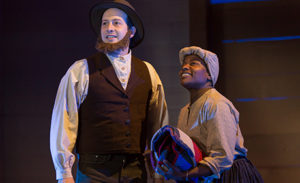 Scott R. Sheppard and Jennifer Kidwell wrote and star in <em>Underground Railroad Game</em> at the Woolly Mammoth Theatre. (Photo: Wooly Mammoth Theatre)