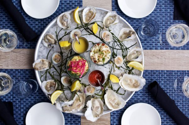 All Set Restaurant & Bar celebrates its third anniversary with happy hour prices from 3-6:30 p.m. Saturday with specials on small plates like oysters on the half shell. (Photo: Wayne E. Chinnock Photography)
