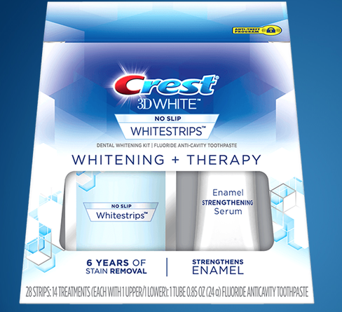 Crest 3D Whitestrips Whitening+Therapy are at the professional level and also strengthen your teeth's enamel. (Photo: Procter & Gamble)