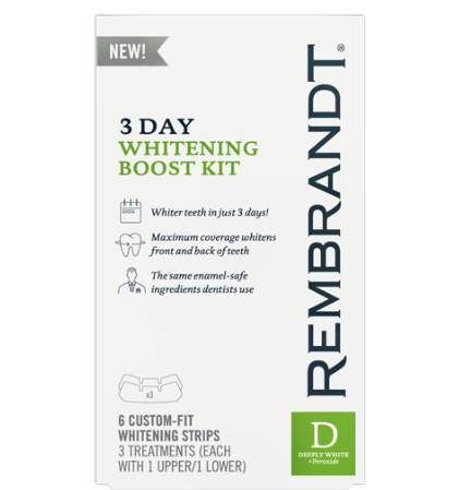 The powerful whitening boost these strips provide in only 3 days time is very convenient. (Photo: Rembrandt)