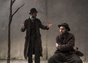 Marty Rea as Vladimir and Aaron Monaghan as Estragon in <em>Waiting for Godot</em> at the Shakespeare Theatre Company. (Photo: Matthew Thompson)