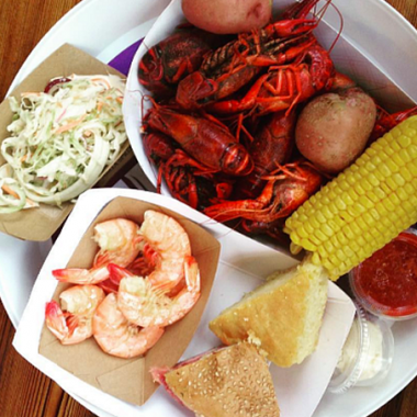 For $35, diners will get a pound of Louisiana crawfish with corn on the cob, new potatoes, coleslaw, mini muff-a-lottas and cornbread. (Photo: Bayou Bakery)