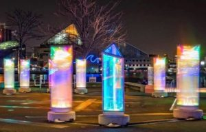 <em>Prismatica</em> is one of the light displays at Baltimore's Light City. (Photo: timshahanrn/Instagram)