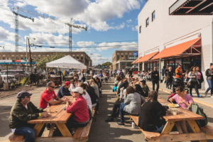 Union Market and nearby businesses welcome spring on Saturday. (Photo: Destination D.C.)