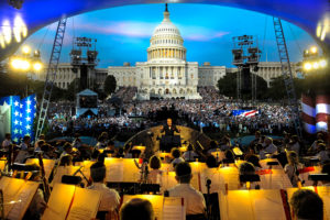 Actors Gary Sinise and Joe Mantegna host this year's National Memorial Day Concert on the West Lawn of the U.S. Capitol Sunday evening. (Photo: Erich Kunzel)