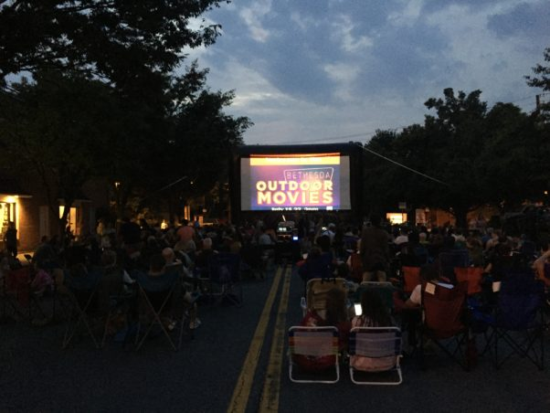 The Bethesda Outdoor Movies will show films nightly July 24-28. (Photo: Bethesda Urban Partnership)