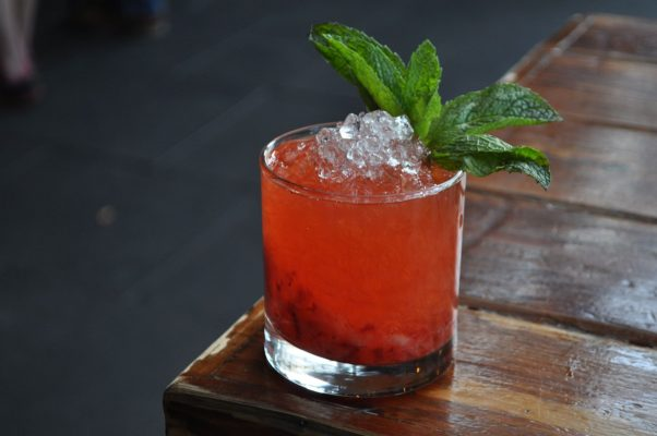 The new Bramblin in the Breeze summer cocktail is $10 on Jack Rose Dining Saloon's rooftop terrace. (Photo: Jack Rose Dining Saloon)