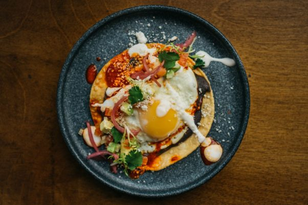 The breakfast tostada is one of the breakfast items available at TTT. (Photo: Timothy Yantz/Ardent Vibe)