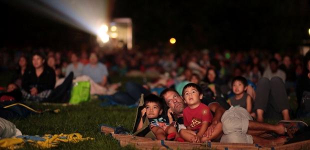 People watching a movie at Starthmore. (Photo: Jim Saah)