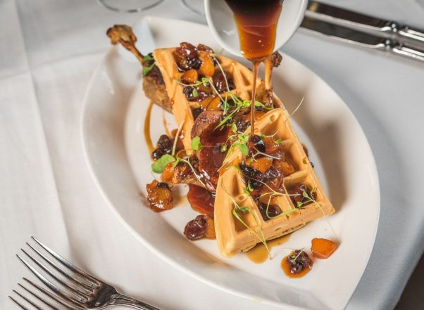 The Occidental Grill & Seafood has a new weekend brunch menu that includes duck and waffles. (Photo: Rey Lopez)