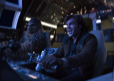 Solo: a Star Wars Story lead at the box office with $103.02 million over the 4-day Memorial Day weekend, but that was not good for a Star Wars movie. (Photo: Jonathan Olley/Lucasfilm Ltd.)