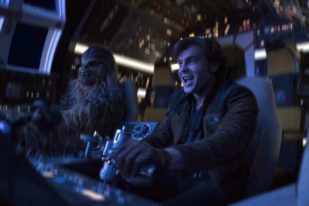 <em>Solo: a Star Wars Story</em> lead at the box office with $103.02 million over the 4-day Memorial Day weekend, but that was not good for a <em>Star Wars</em> movie. (Photo: Jonathan Olley/Lucasfilm Ltd.)