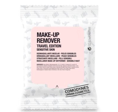 Comodynes mini Make-Up Remover towelettes really do the job at cleaning up your next-day racoon eyes. (Photo: Comodyne Urban Cosmetics)