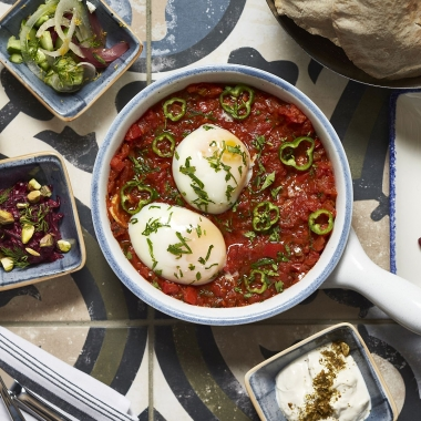 Sababa will begin serving an Israeli brunch this weekend. Dishes include this shashuka. (Photo: Greg Powers)