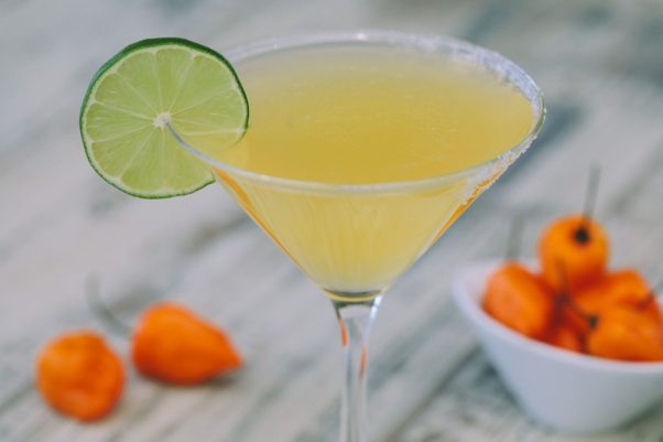 Leagal Sea Food's new spicy mango margarita is available through the end of September. (Photo: Brian Samuels)