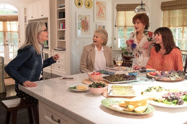 <em>Book Club</em> with Jane Fonda, Mary Steenburgen, Diane Keaton and Candice Bergen provided alternate programming fo <em>Deadpool 2</em> and came in thrid with $13,58 million. (Photo: Paramount Pictures)