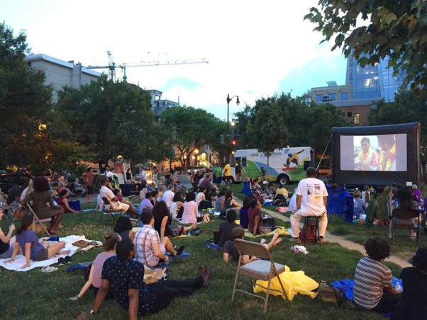 The D.C. Office of Asian and Pacific Islander Affairs shows and Asian or Pacific Islander-themed movie in Chiantown Park each month during the summer. (Office of Asian and Pacific Islander Affairs)