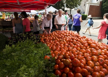 The Freshfarm's Dupont Circle Farmers Market is open Sundays from 8:30 a.m.-1:30 p.m. year round at 1500 20th St. NW. (Photo: Point Images/Flickr)