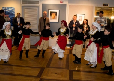 Children perform an ethnic dance at on of the embassies during last year's open house. (Photo: Eurpoean Union Delegation)