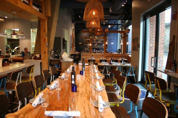 Inside the intimate restaurant is seating for 68 diners. (Photo: Mark Heckathorn/DC on Heels)