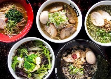 Jinya Ramen Bar, which serves five kinds of ramen with more than 25 toppings, will open in North Bethesda's Pike & Rose development this summer. (Photo: Jinya Ramen Bar)