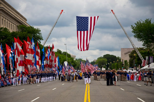 The annual National Memorial Day Parade, the largest in the U.S., will take place on Constitution Avenue NW on Memorial Day. (Photo: American Veterans Center)