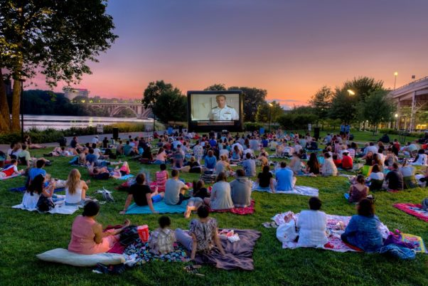 Sunset Cinema brings outdoor movies to the Georgetown waterfront Tuesdays in July and August. (Photo: Georgetown BID)