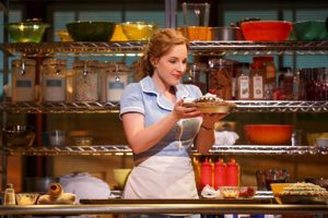 <em>Waitress</em> at the National Theatre is about a waitress and a maker of delicious pies who dreams of a way out of her small town and loveless marriage. (Photo: Joan Marcus)