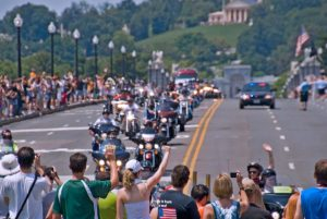 Rolling Thunder, with more than 900,000 motorcycle riders, rolls through the National Mall on Sunday. (Photo: Ron Cogswell)