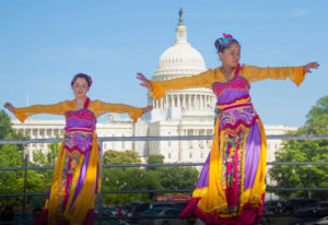 The Fiesta Asia Street Fair includes performers, food booth and market vendors along Pennsylvania Avenue in front of the U.S. Capitol on Saturday. (Photo: Victoria Pickering)