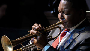 Wynton Marsalis performs <em>A Tribute to Leonard Bernstein</em> with the Jazz at Lincoln Center Orchestra on Sunday night at the Kennedy Center. (Photo: Kennedy Center)