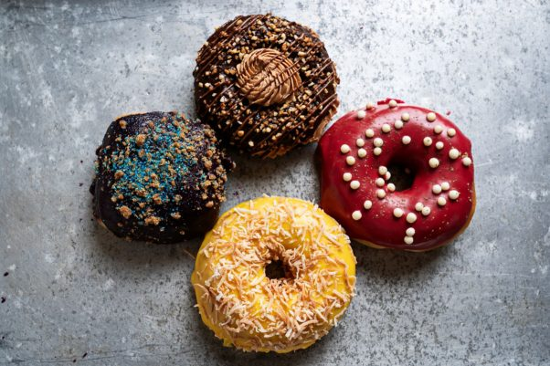 Astro Doughnuts & Fried Chicken has four special flavors for June. (Photo: Scott Suchman)