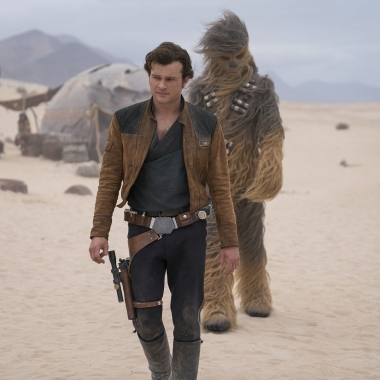 Solo: A Star Wars Story finished in first place over the weekend with $29.40 million. Many wonder if Star Wars fatigue has set in since it is well below the last two franchiese installments. (Photo: Jonathan Olley/Lucasfilms)