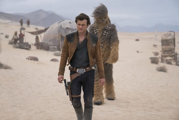 <em>Solo: A Star Wars Story</em> finished in first place over the weekend with $29.40 million. Many wonder if <em>Star Wars</em> fatigue has set in since it is well below the last two franchiese installments. (Photo: Jonathan Olley/Lucasfilms)