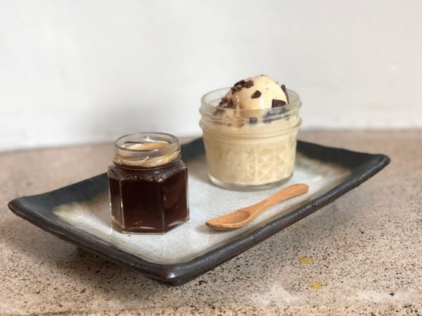 The Royal's Royal Knights pop-up series will feature cognac and the Oui Oui, Mon Ami (pictured) with house-made caramelized pineapple and star anise ice cream served alongside a shot of cognac and cold brew coffee to pour over the frozen treat. (Photo: Royal)
