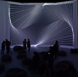 <em>Naked Eyes</em>, on display now at Artechouse, combines sounds with visuals. (Photo: Artechouse)